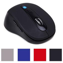 HDE Ergonomic Bluetooth Wireless Optical Laser Mouse for And