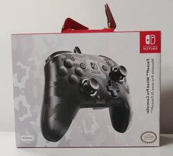 PDP Faceoff Wired Black Camo Pro Controller For The Nintendo