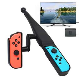 YUANHOT Fishing Rod for Nintendo Switch Joy-Con New Game, Fi