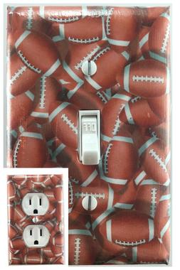 FootBall Sports Decorative Light Switch Cover Outlet Switch