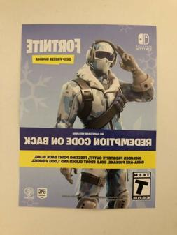 FORTNITE DEEP FREEZE BUNDLE 1000 VBUCKS NINTENDO SWITCH