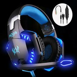 Gaming Headset Mic Stereo Headphone 3.5mm Wired For PS4 Xbox
