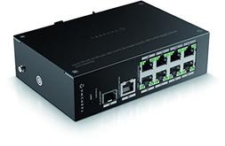 Amcrest Gigabit Uplink 9-Port POE+ Ethernet Switch with Meta