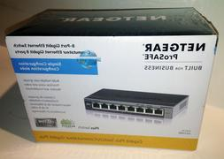 Netgear GS108E-300NAS ProSAFE 8-Port Gigabit Web Managed Swi