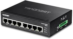 TRENDnet 8-Port Hardened Industrial Gigabit DIN-Rail Switch