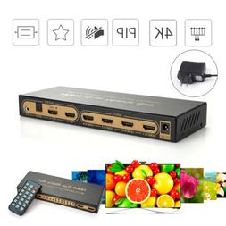 HDMI Matrix Switch 6 in 2 Out Switcher/Splitter with Optical