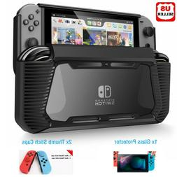 Hybrid Case for Nintendo Switch Rugged Rubberized Snap on Ha