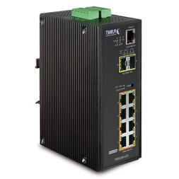 PLANET IGS-10020HPT / Industrial 8-Port 10/100/1000T 802.3at