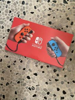 IN HAND Nintendo Switch 32GB Gray Console with Neon Red and