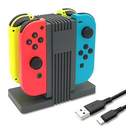 FastSnail Charging Dock for Nintendo Switch Joy-Con with LED