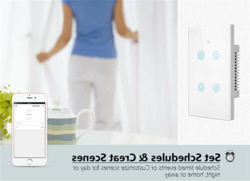 1/2/3/4 Gang WiFi Light Touch Panel Google