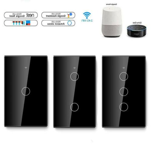 1/2/3 Wall Switch Touch Panel For Alexa Google