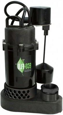ECO-FLO 1/3 HP Vertical Switch Submersible Thermoplastic Sum