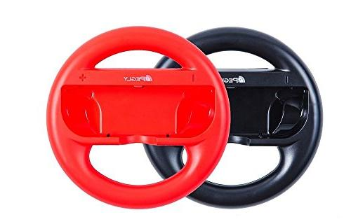 Pegly Accessories Including HD Carrying Joy-Con Steering Wheels, Charger, Joy-con case and