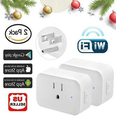 2 wifi smart plug power switch outlet