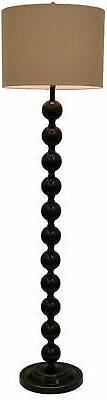 Floor Lamp 59 in. Bronze 3-Way Switch Repeat Stacked Ball Wi