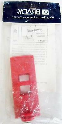 BRADY 65392 WALL SWITCH LOCKOUT, RED - NEW