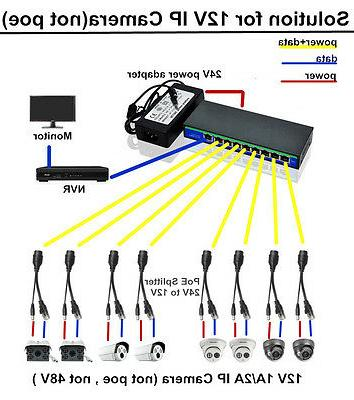 8 port poe injector switch solution