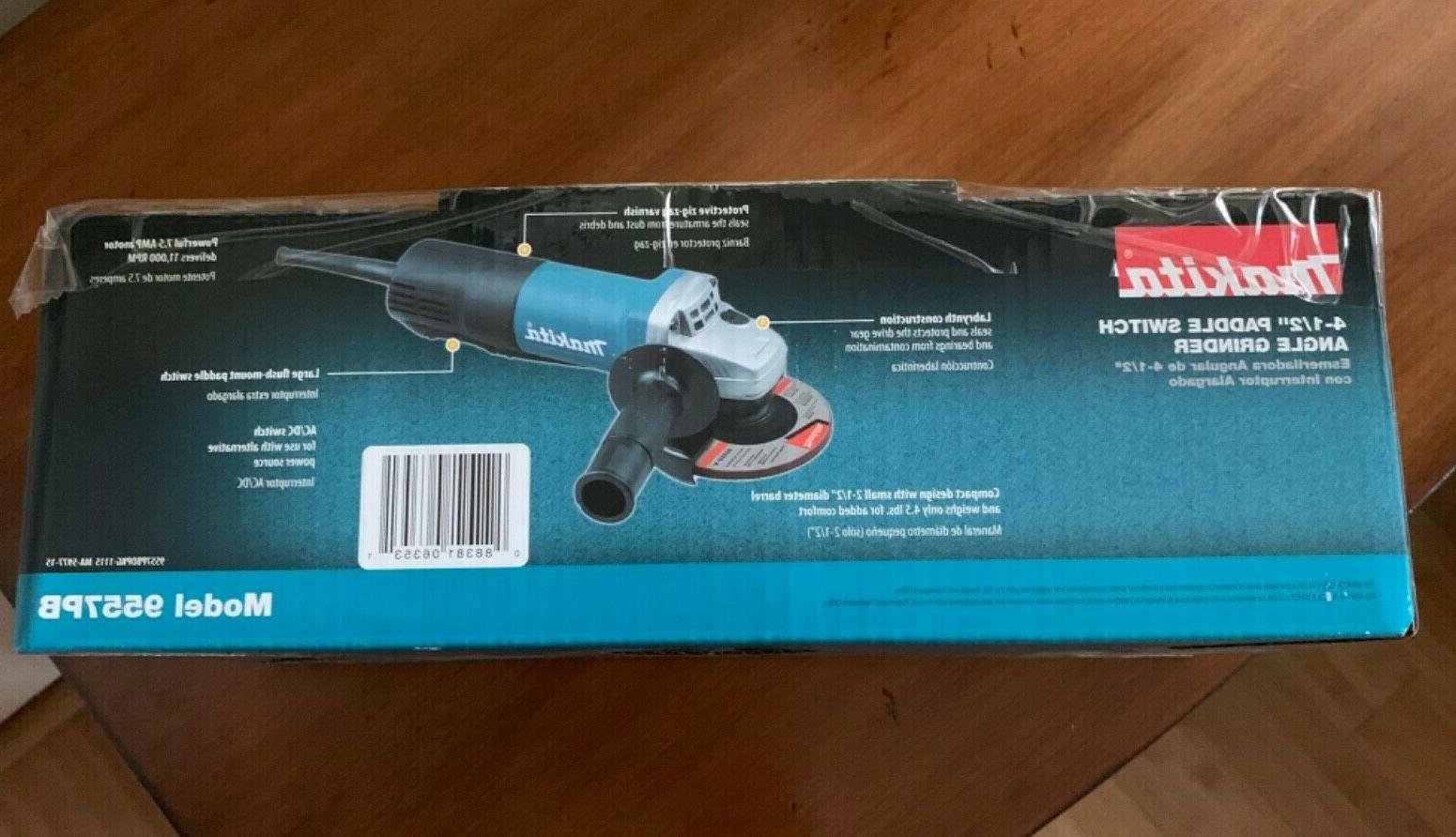 MAKITA 9557PB Switch GRINDER, NEW in