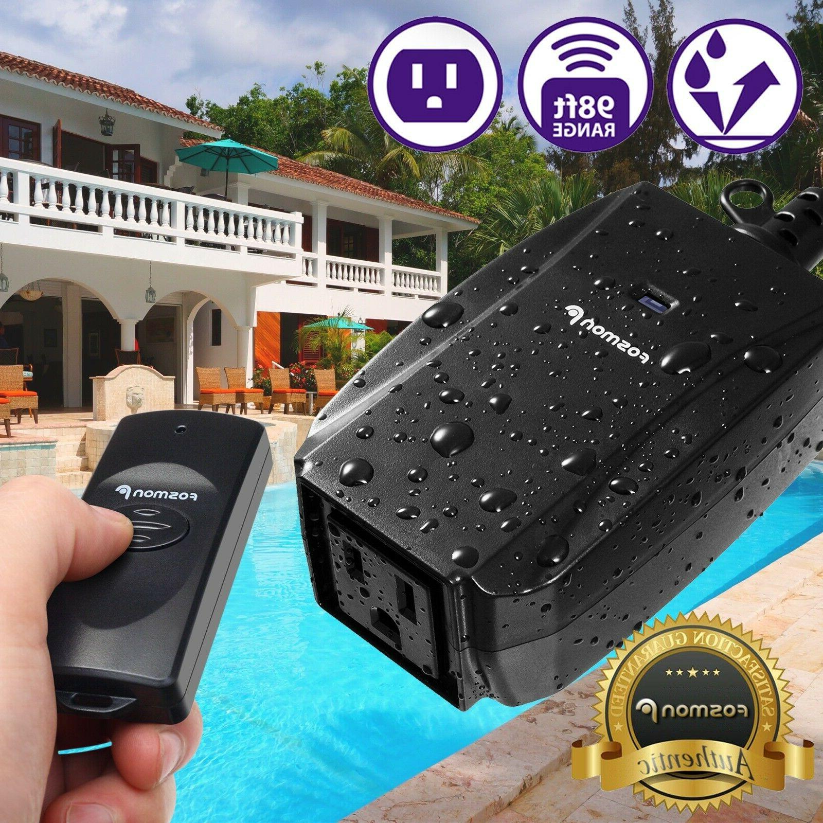 Waterproof Outdoor LED Light Wireless Remote Control Outlet