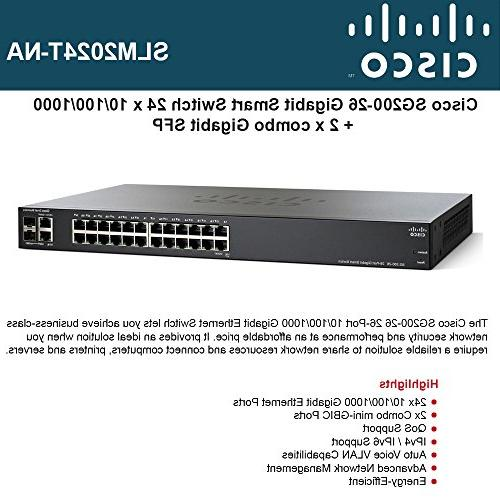 Cisco Smart Switch with 24 10/100/1000 Ports 2 Combo Mini-GBIC Ports