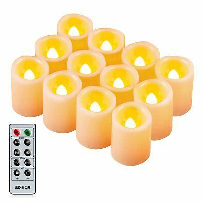 Kohree Flameless Candles LED Battery Candles with Timer Remo