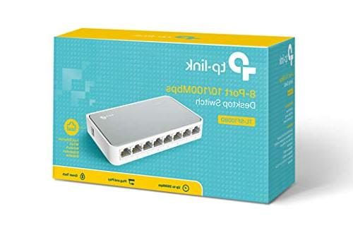 TP-Link 8 Ethernet Switch Hub and Play Fanless | Unmanaged