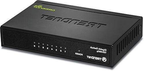 TRENDnet 8-Port Switch, Ethernet Fanless,16 Gbps Switching Play, Lifetime Protection,