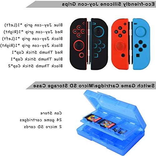 Accessories for Switch Games Grip Carrying Screen Protector Controller Charger