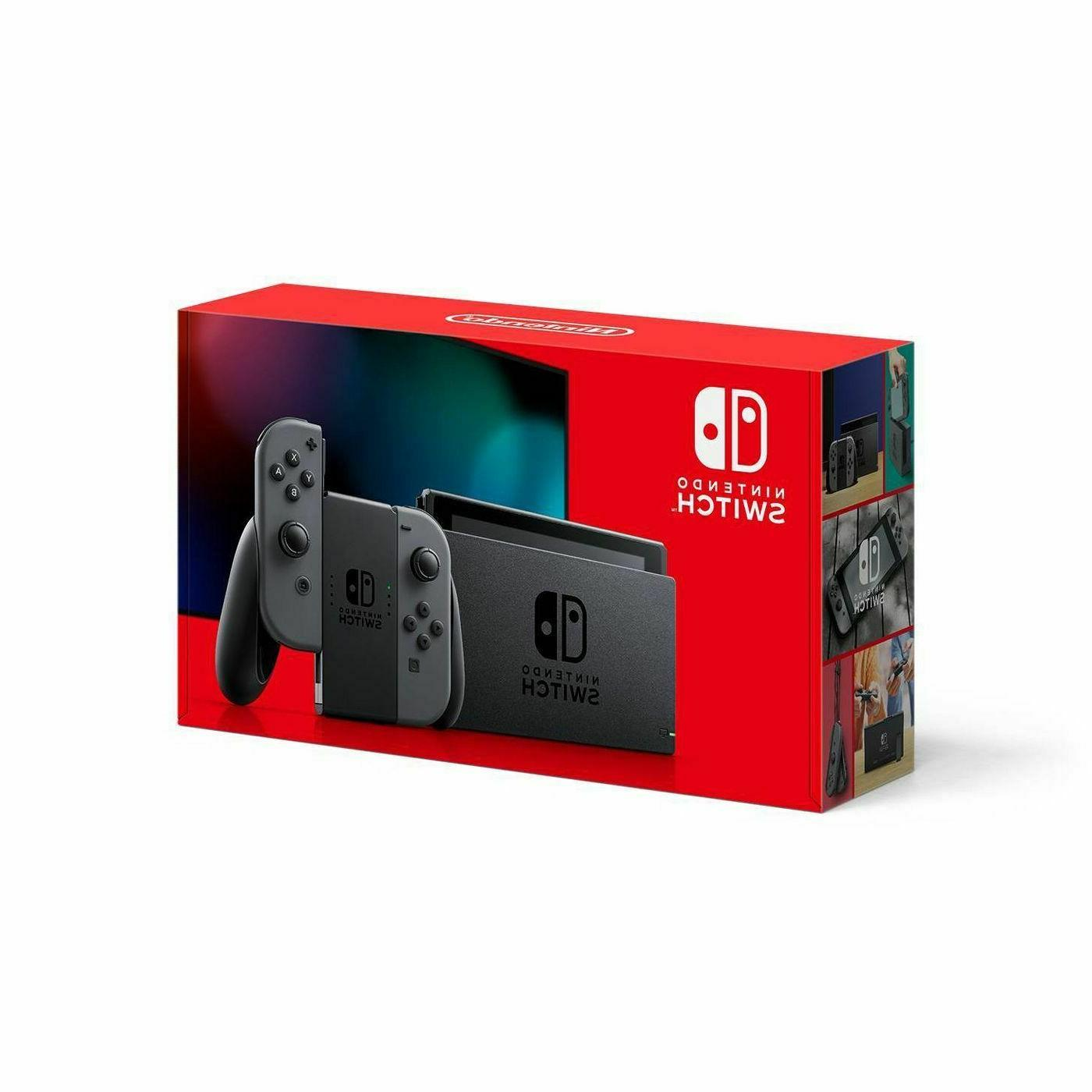 brand new switch console with gray joy