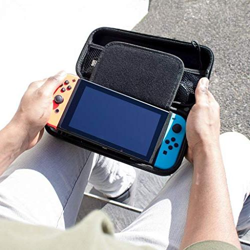 Orzly Carry Case Compatible With Nintendo Switch - BLACK Travel Carry Console