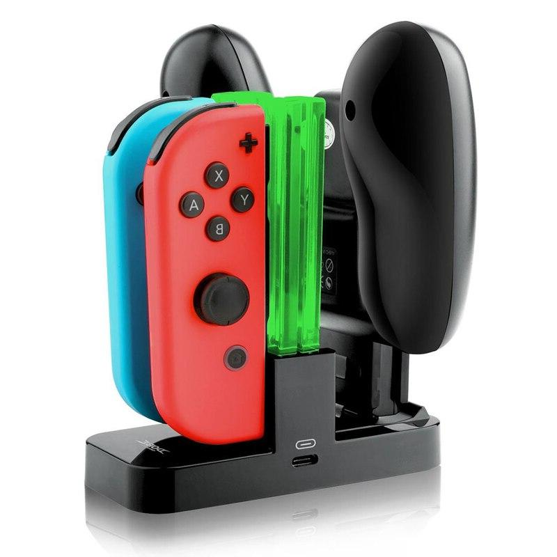Charging <font><b>Dock</b></font> For <font><b>Switch</b></font> Controller LED Charger Charge For Joy-con&Pro NS