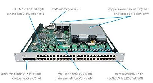Cisco MS350-48LP Cloud Managed Switch - Port 3, PoE Licensing Required Sold Separately)