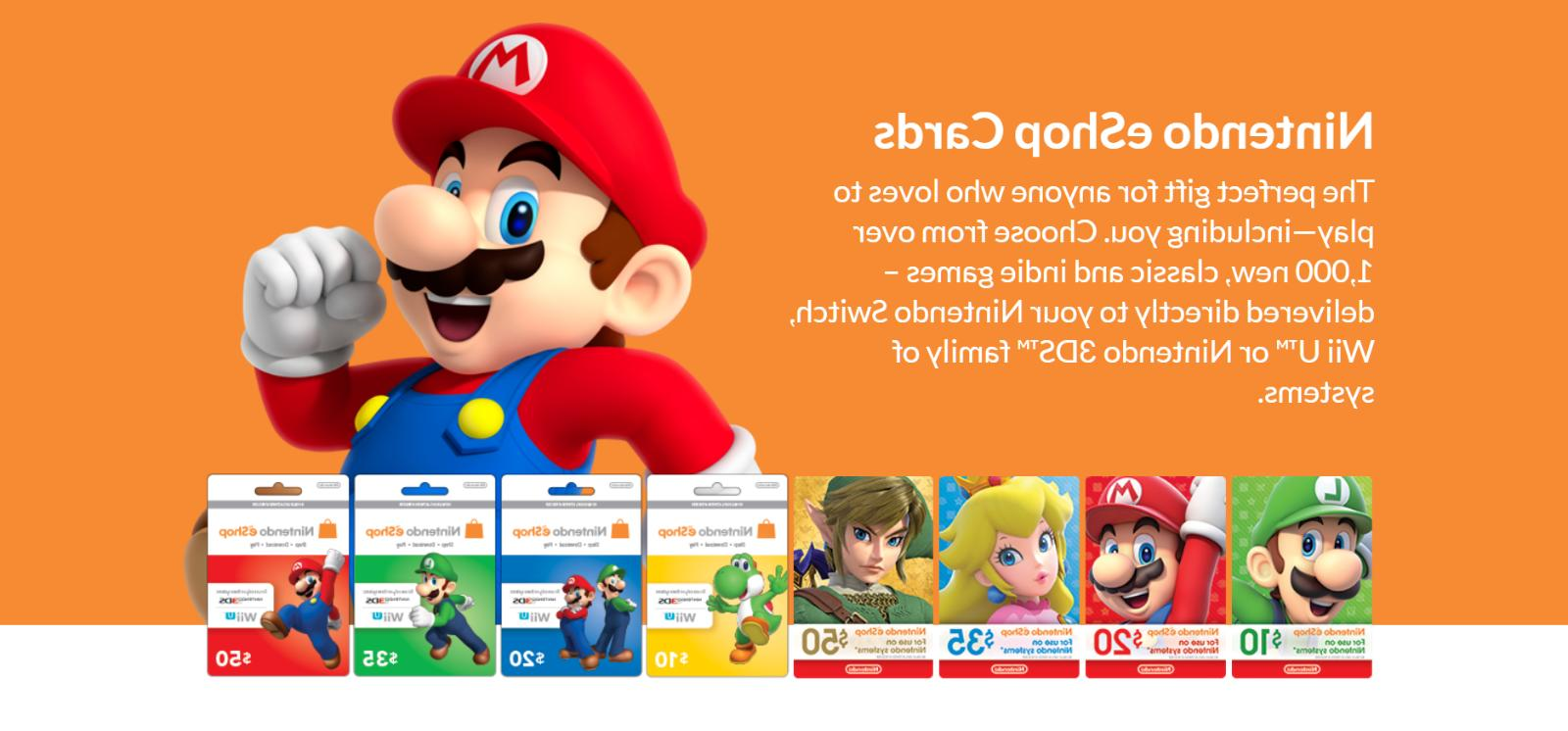 Nintendo Eshop $20 Gift Card New