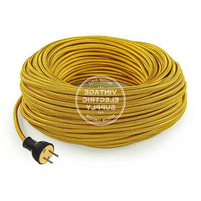 gold cordset cloth covered round rewire set
