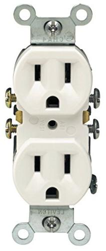 Leviton Grounded Outlet Contractor 10 Pack
