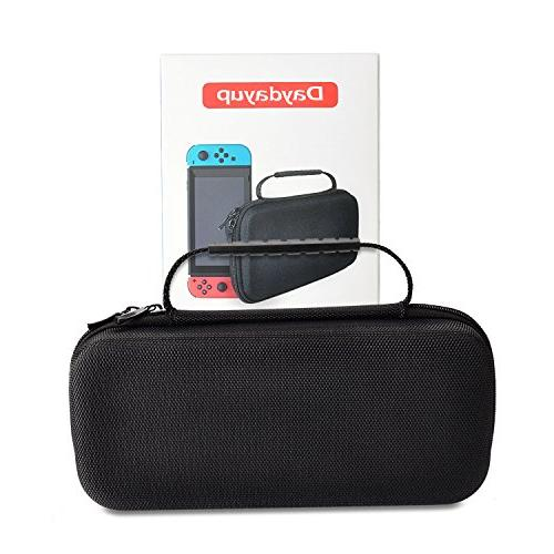 Hestia Goods Carrying Case compatible with Switch - Cartridges Protective Hard Travel for Nintendo Switch Console &