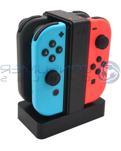 joy con charge stand 4 controllers desktop