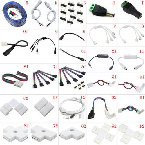 led strip connector adapter cable pcb clip