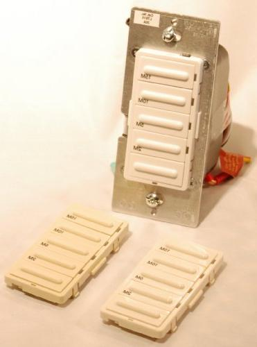 Leviton Incandescent/20A Resistive-Inductive 1HP 2-5-10-15 Timer Switch, White/Ivory/Light Almond