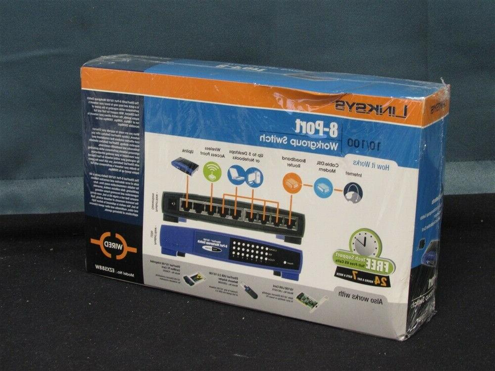 NEW EtherFast 8-Port Switch