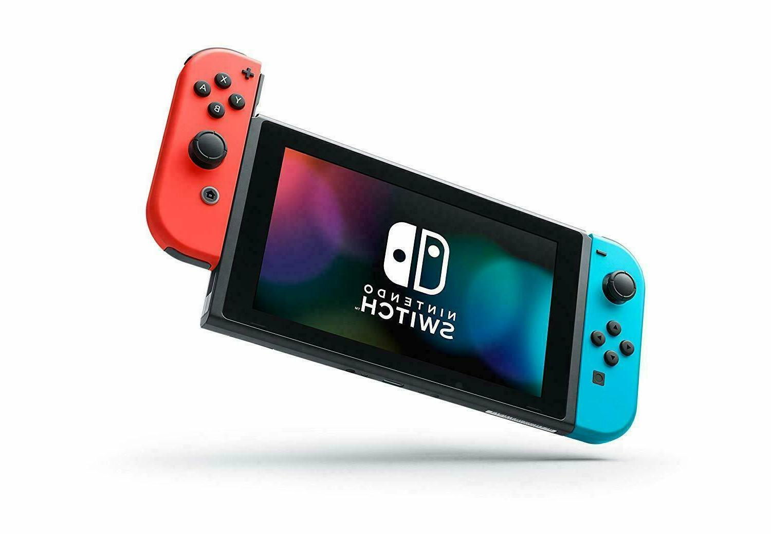 NEW Switch Console 32GB Memory Blue Neon Joy Cons V2