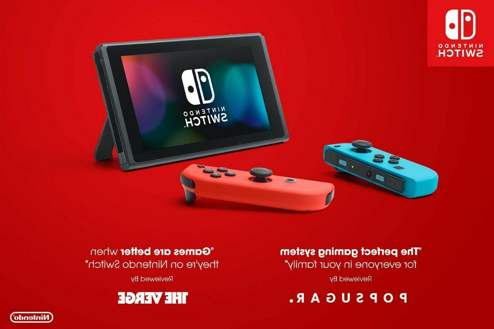 Nintendo Console Neon Red and