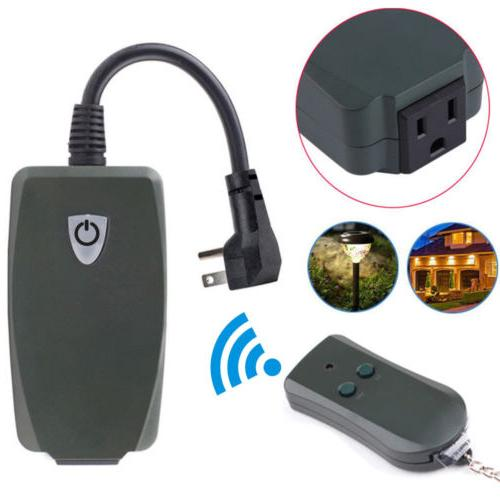 Outdoor Plug Remote Control Outlet Wireless Power Electrical