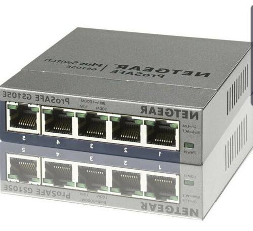 NETGEAR ProSafe Plus GS105E 5-port Gigabit Ethernet Switch -