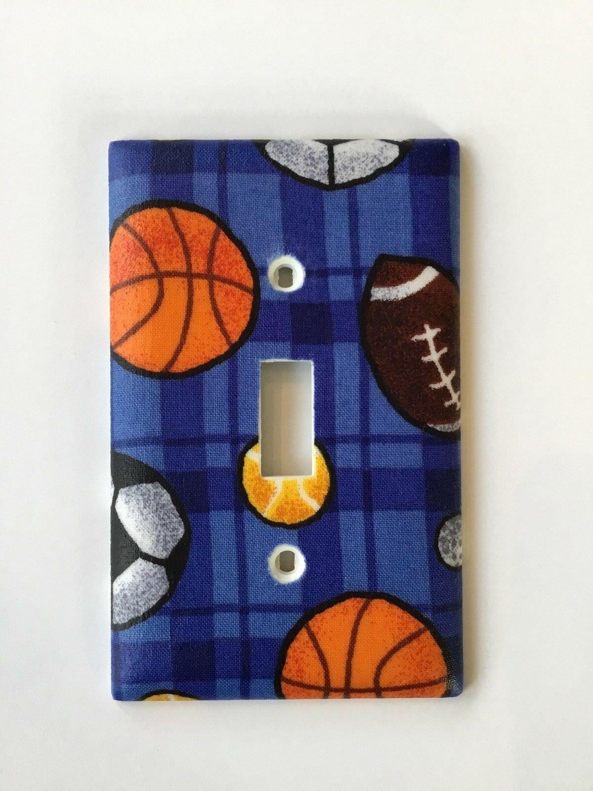 sports themed light switch plate cover football