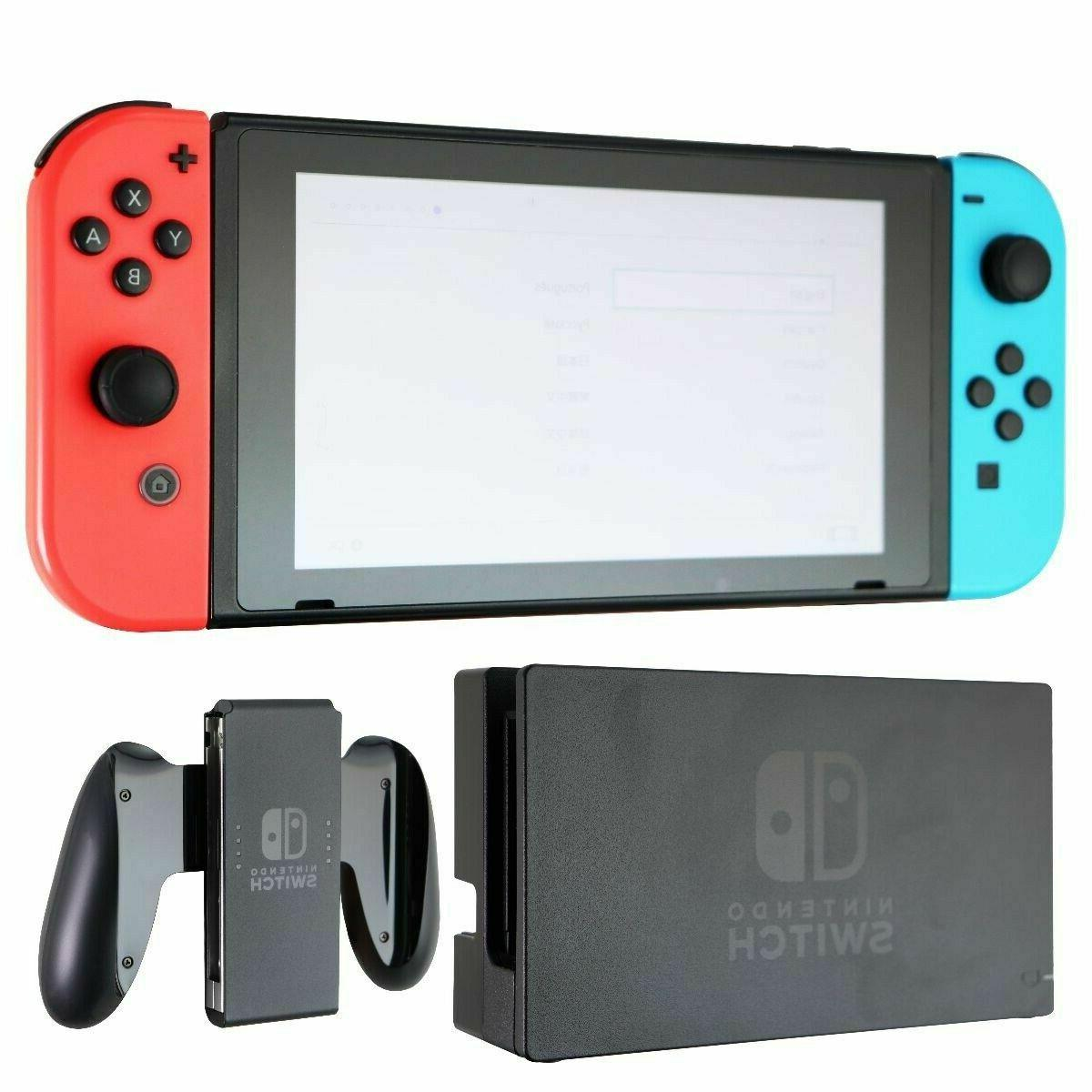 switch 32gb console black hac 001 red
