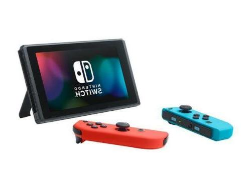 Nintendo Switch with Neon Neon Red Joy-Con