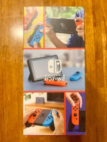 Nintendo Switch with Neon Neon HAC-001 NEW