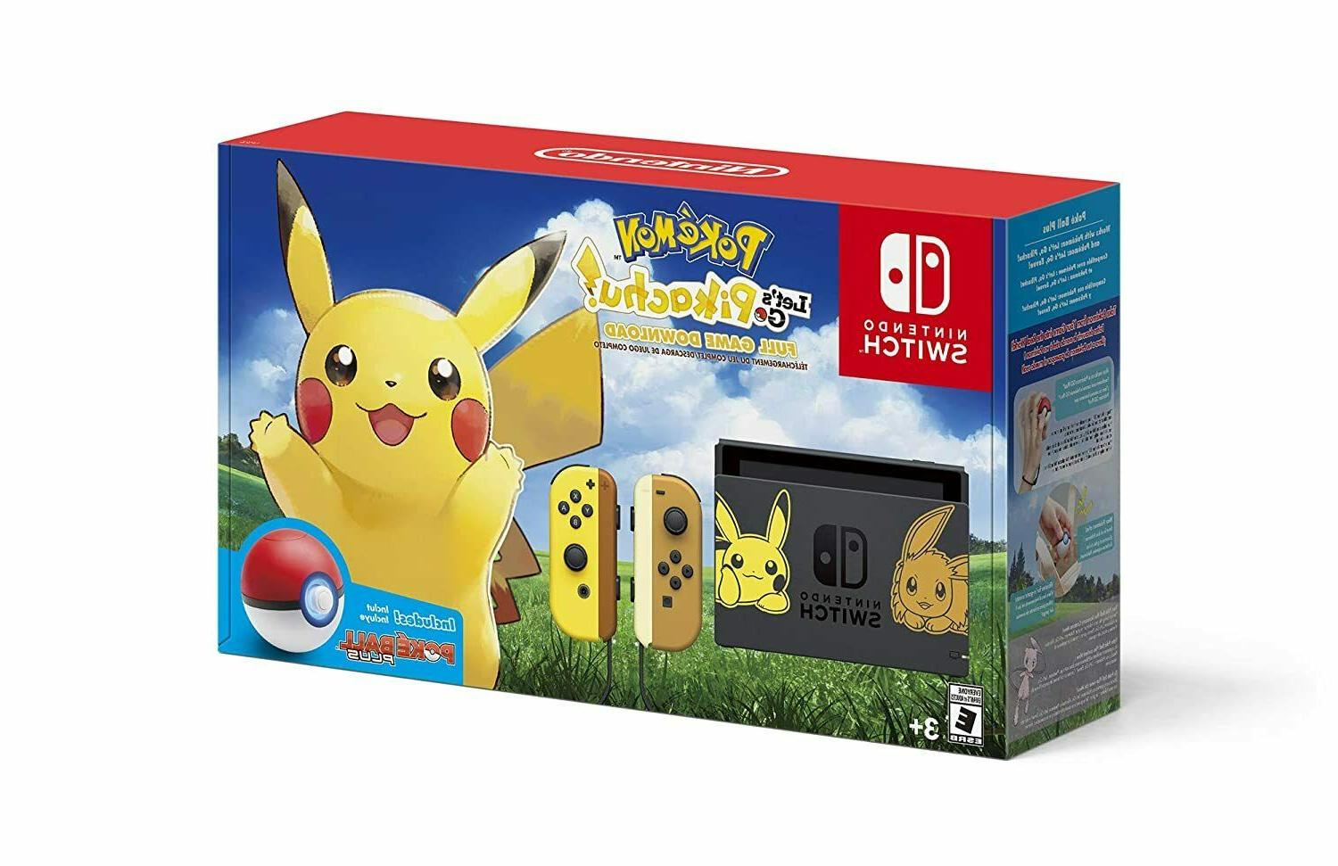 switch bundle pikachu and eevee edition